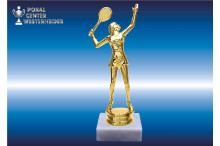 Damen-Tennisfigur in gold