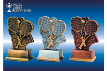 Resin Tennisfiguren gold-silber-bronze