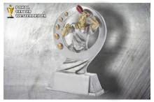 Tischtennis Herren Figur silber-gold ST39370