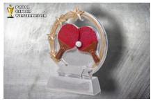 Tischtennis Trophäen ST39369 silber-gold-rot