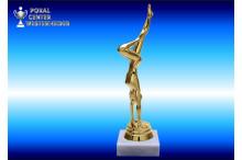Turnsport-Trophäenfiguren weiblich gold