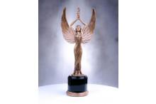 Siegerfigur im Bronzelook