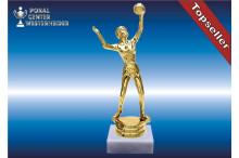 Damen Volleyballfiguren in gold